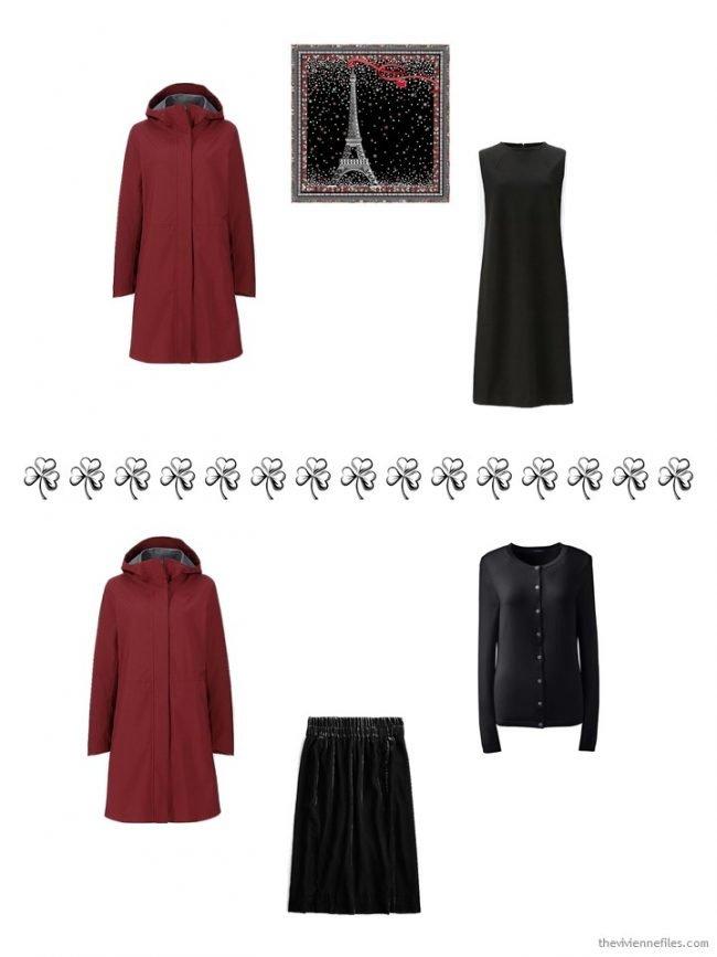 11. 2 ways to wear a wine rain jacket