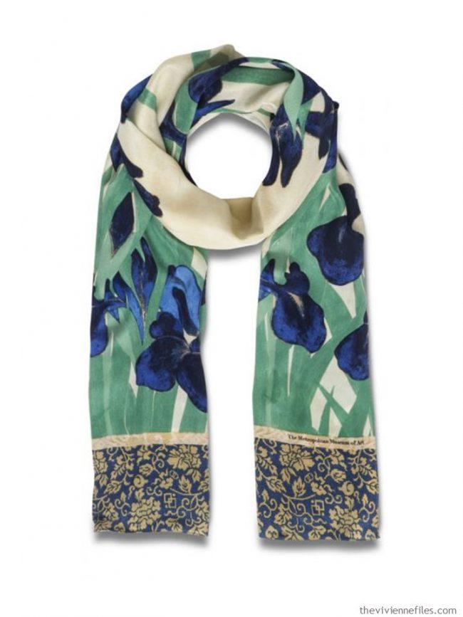 1. Japanese Irises scarf