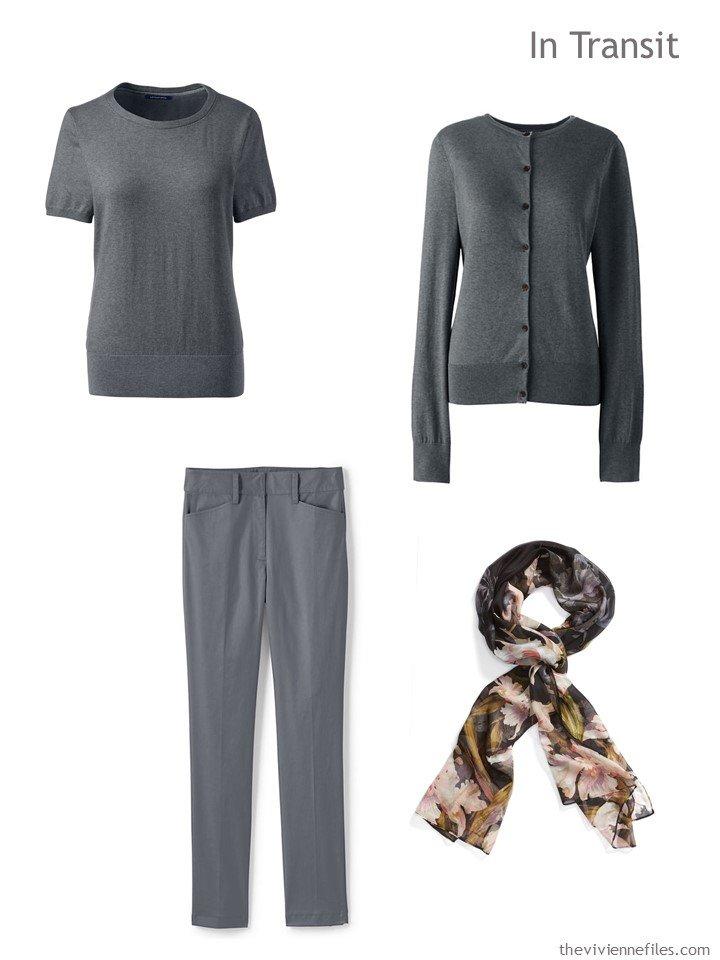1. grey travel wardrobe