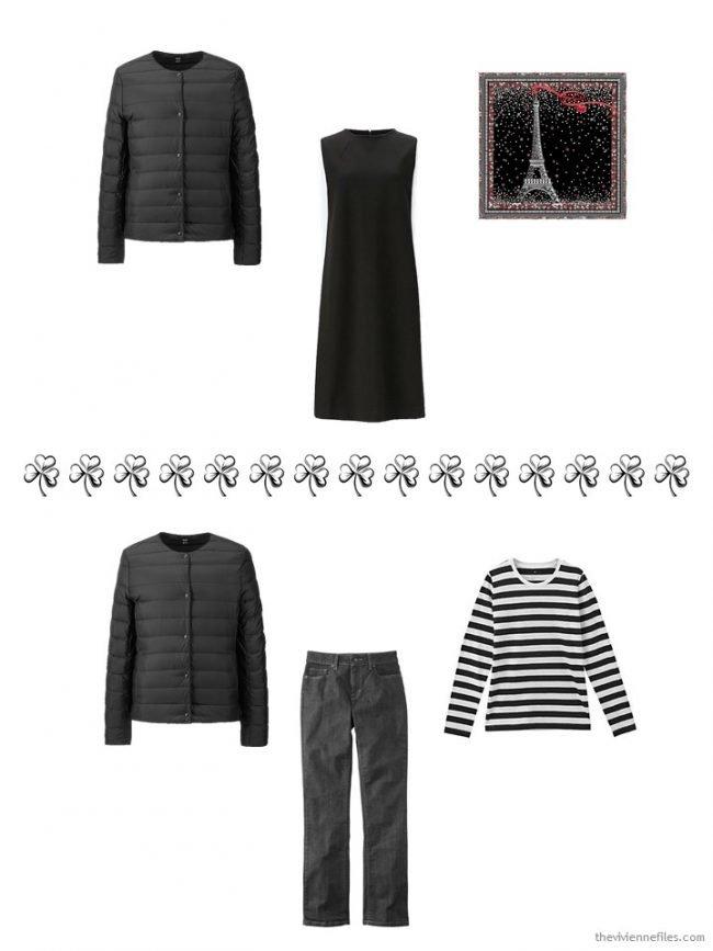 10. 2 ways to wear a black down jacket