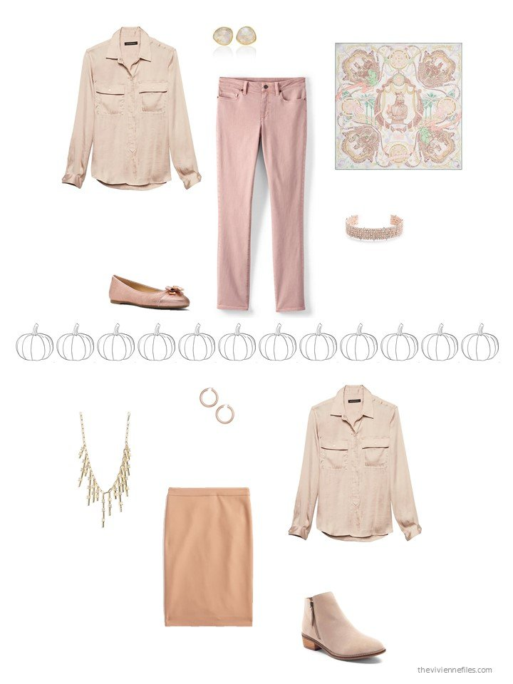 10. 2 ways to wear a tan shirt