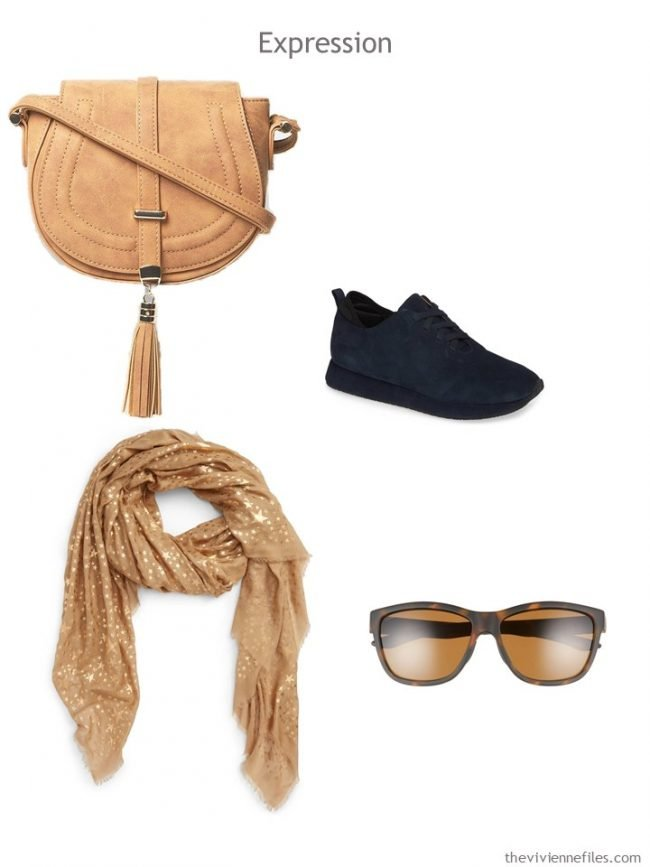 10. Expression Accessories in navy and camel