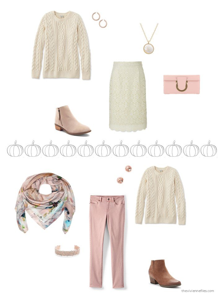 11. 2 ways to wear an ivory sweater