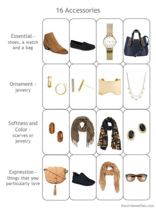 11. Completed Accessory 4 by 4 Wardrobe in navy and camel