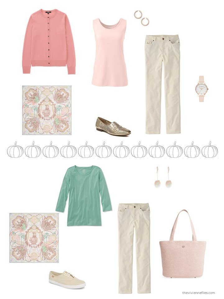 12. 2 ways to wear beige pants