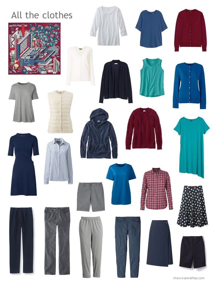 14. navy, burgundy and grey wardrobe