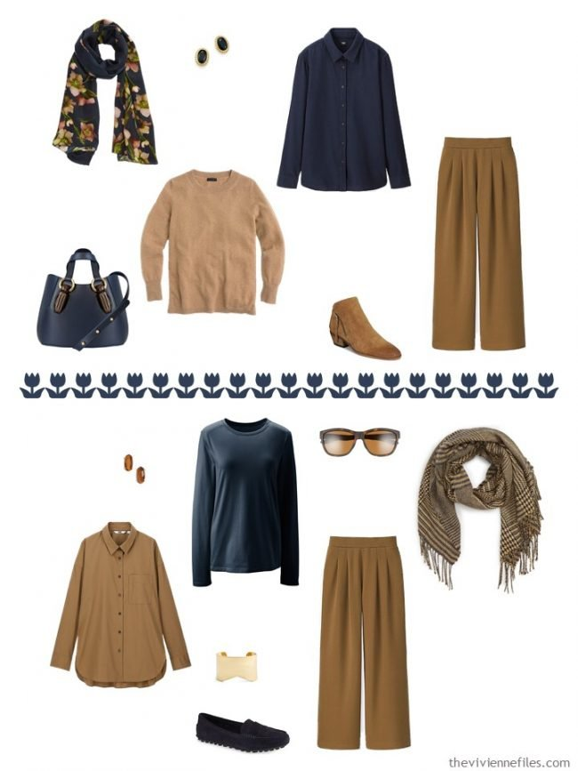 15. 2 ways to wear Nutmeg pants from a capsule wardrobe