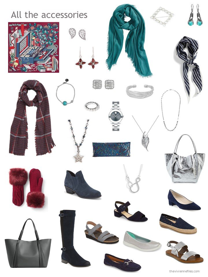 15. accessories for a navy and grey wardrobe