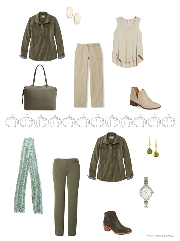 22. 2 ways to wear an olive shirt