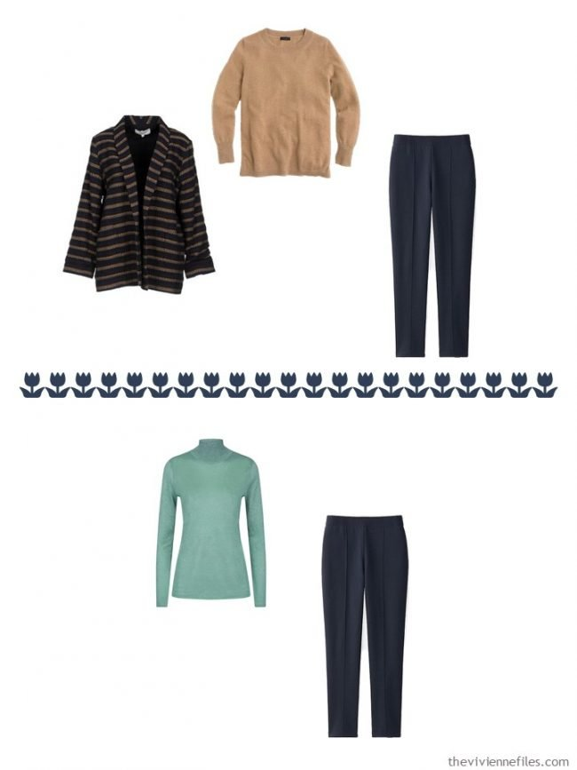 22. 2 ways to wear navy pants from a capsule wardrobe
