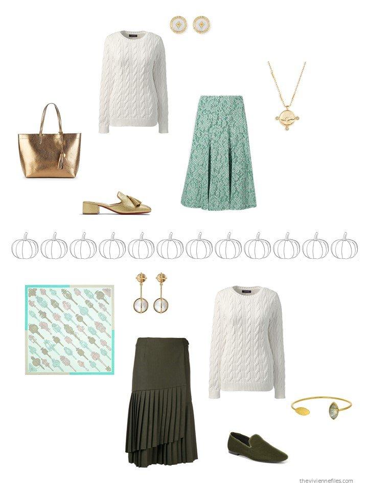 23. 2 ways to wear an ivory sweater