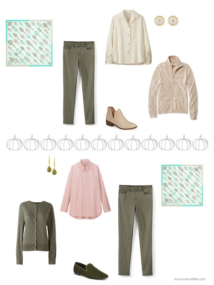 24. 2 ways to wear olive pants
