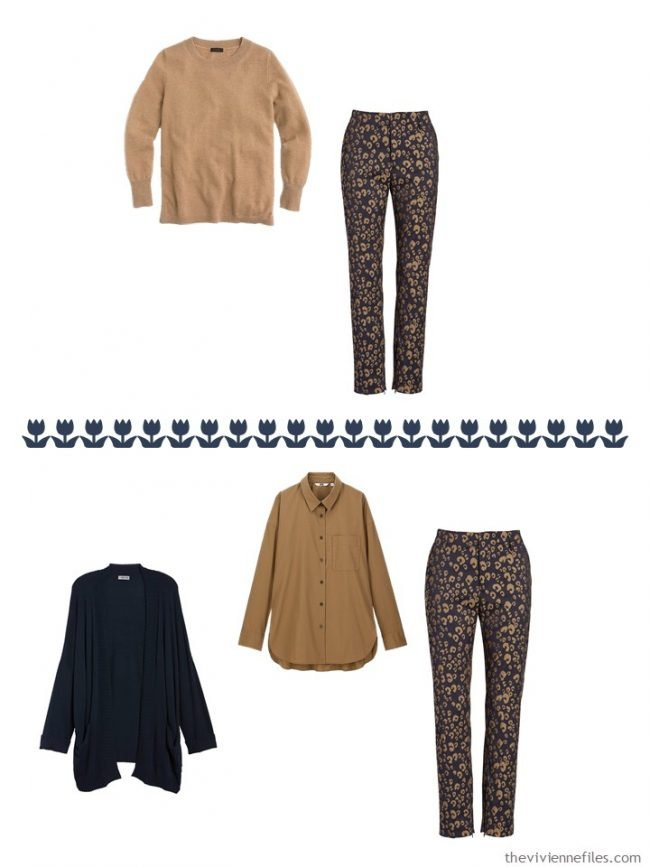 24. 2 ways to wear printed pants from a capsule wardrobe