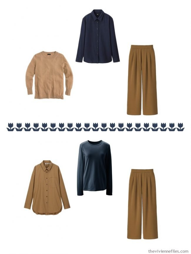 25. 2 ways to wear camel pants from a capsule wardrobe