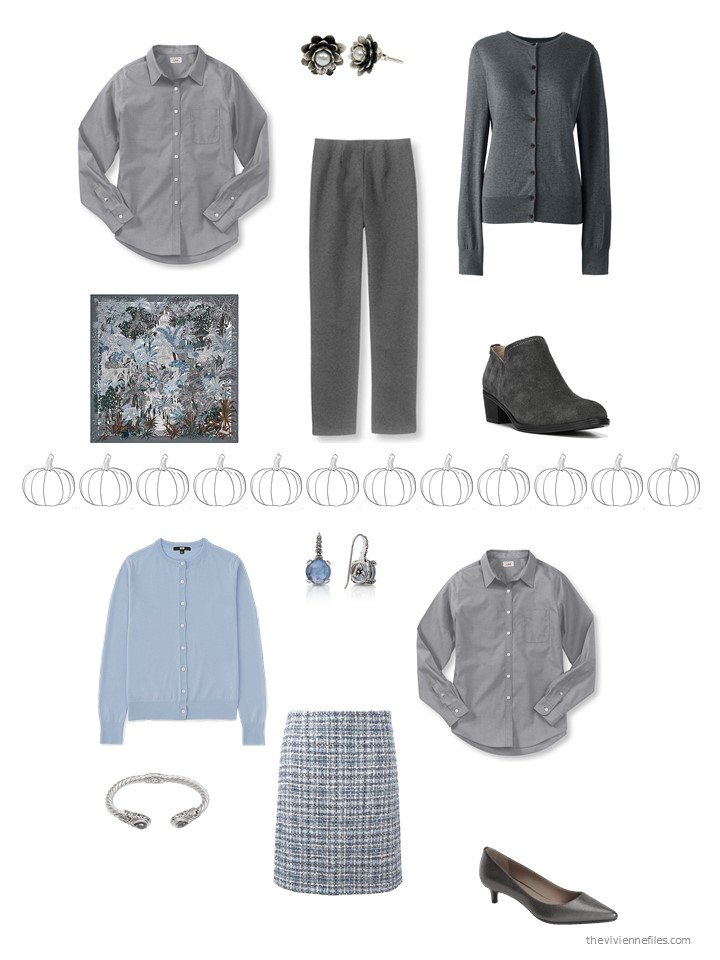 28. 2 ways to wear a grey shirt