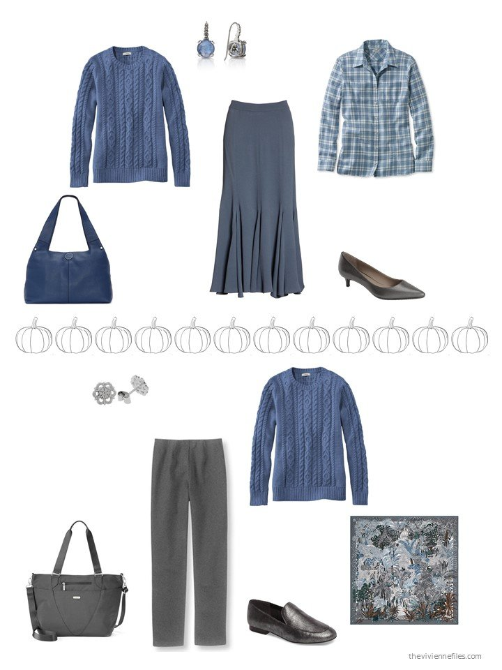 29. 2 ways to wear a blue sweater