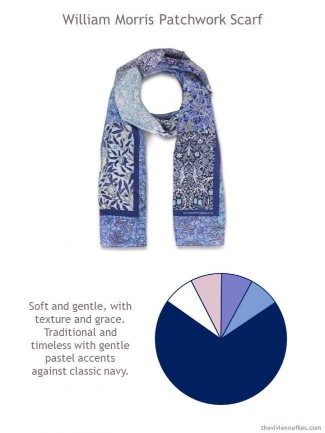 2. William Morris Scarf with style guidelines and color palette