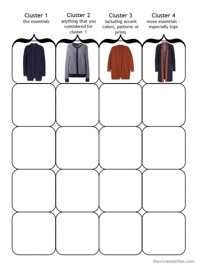 3. Starting a 4 Cluster Wardrobe with 2nd layers