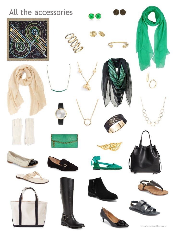 3. accessories for a mostly black wardrobe