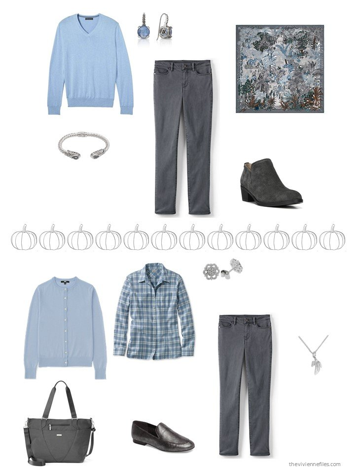30. 2 ways to wear grey jeans