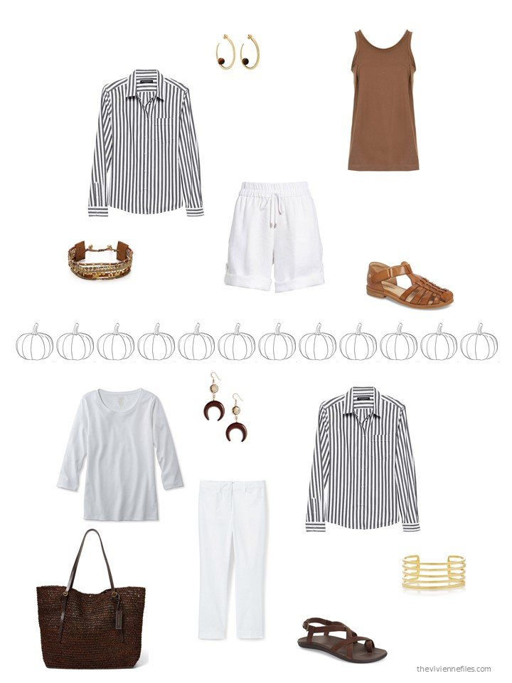 34. 2 ways to wear a black striped shirt
