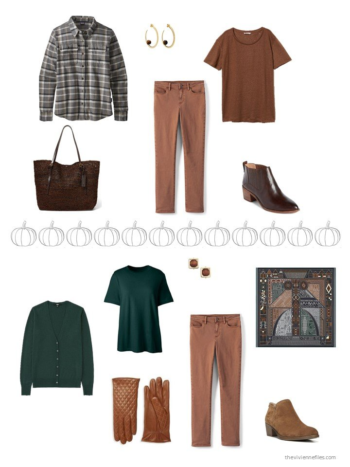 36. 2 ways to wear brown jeans