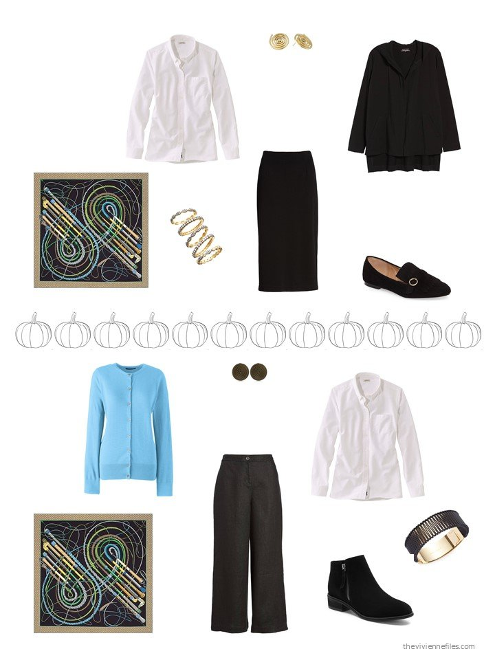4. 2 ways to wear a white shirt