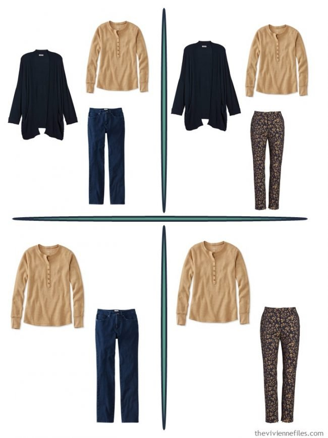 4. 4 outfits from 4 garments