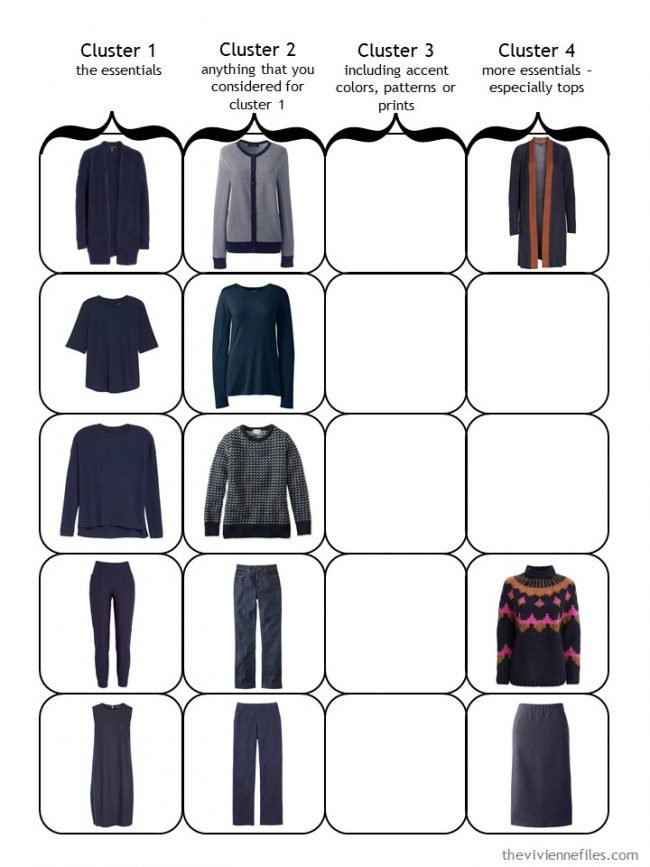 4. Starting a 4 Cluster Wardrobe with navy neutral