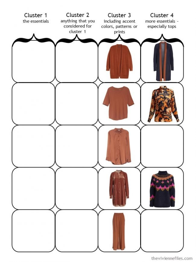 5. Starting a 4 Cluster Wardrobe with an accent of Nutmeg