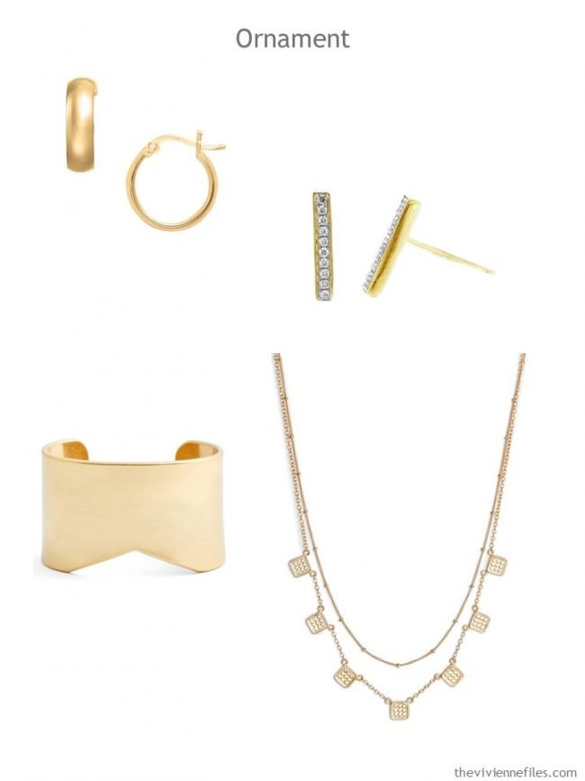 6. Ornament accessories in gold