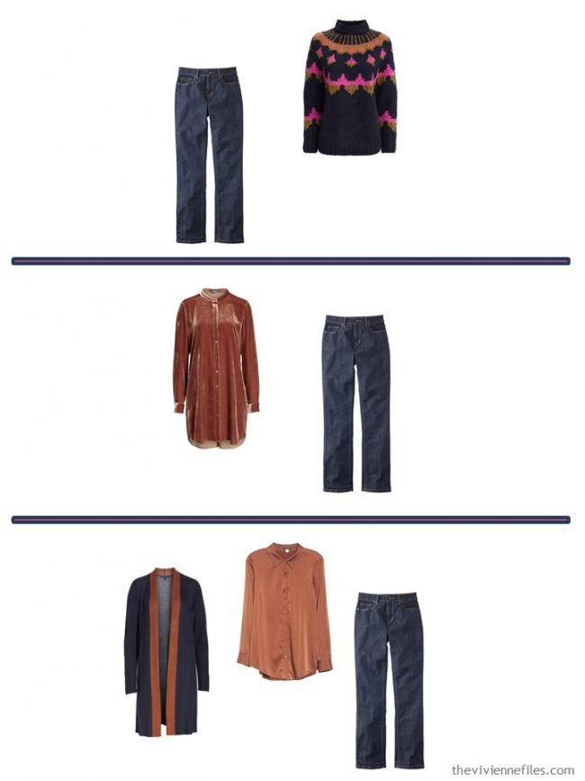 7. 3 Ways to wear jeans from a 4 Cluster Wardrobe