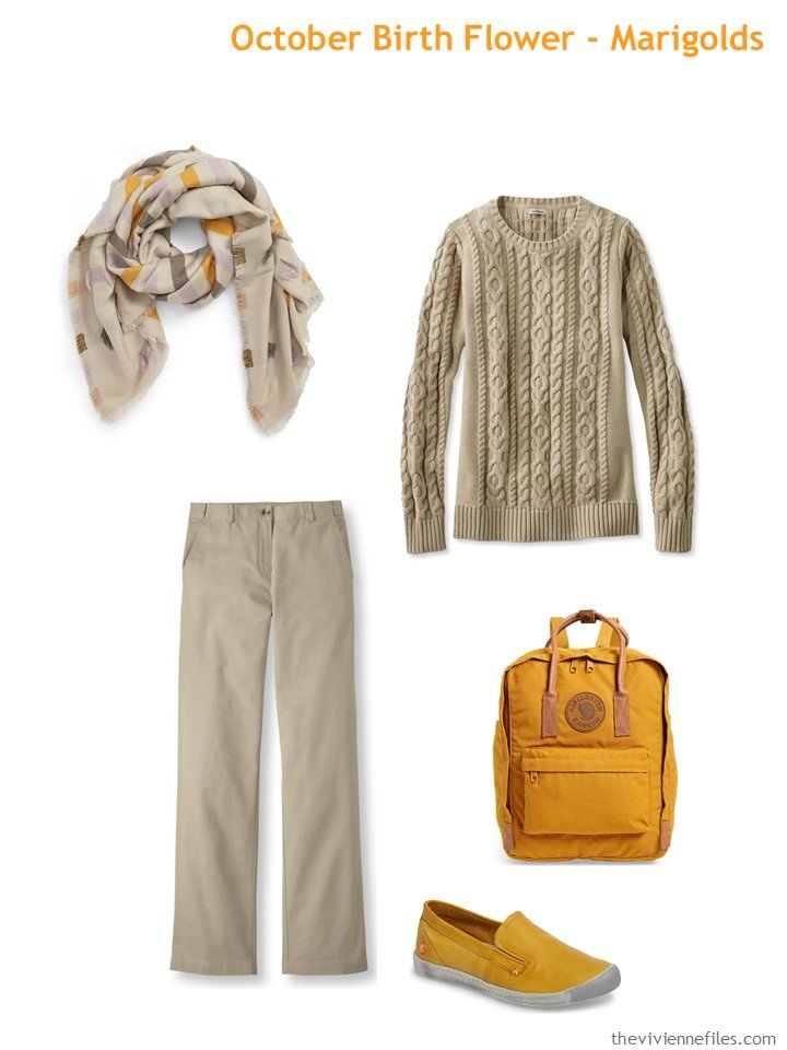 7. beige with marigold accents