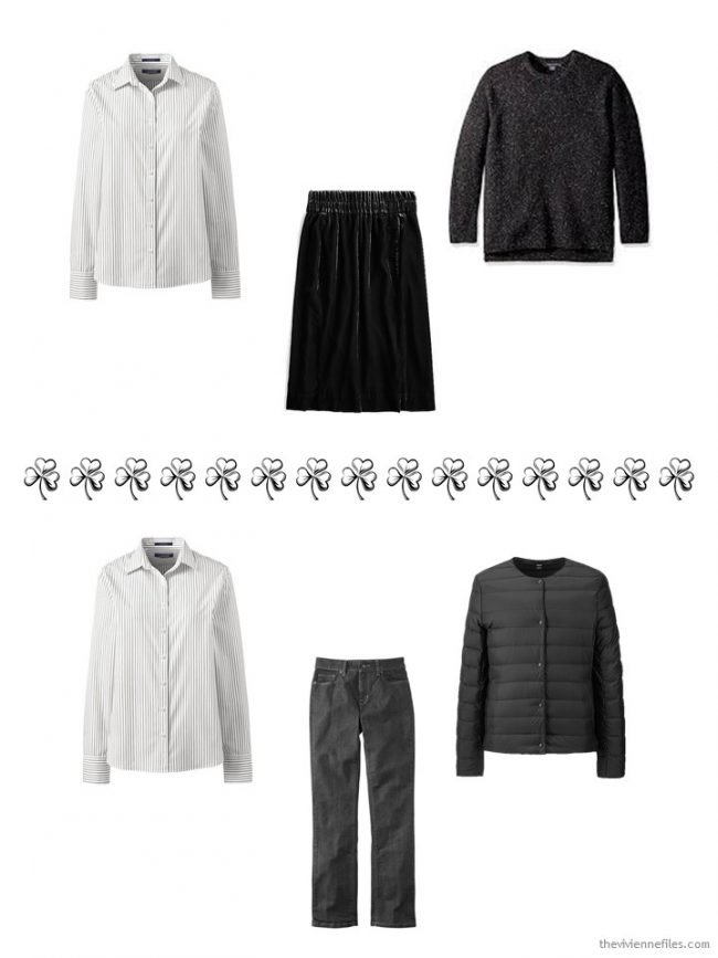 8. 2 ways to wear an ivory striped shirt