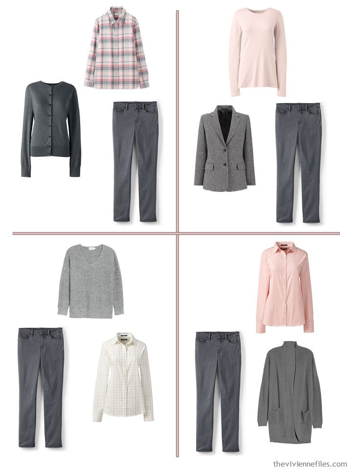 8. 4 ways to wear black jeans from a 13-piece travel wardrobe