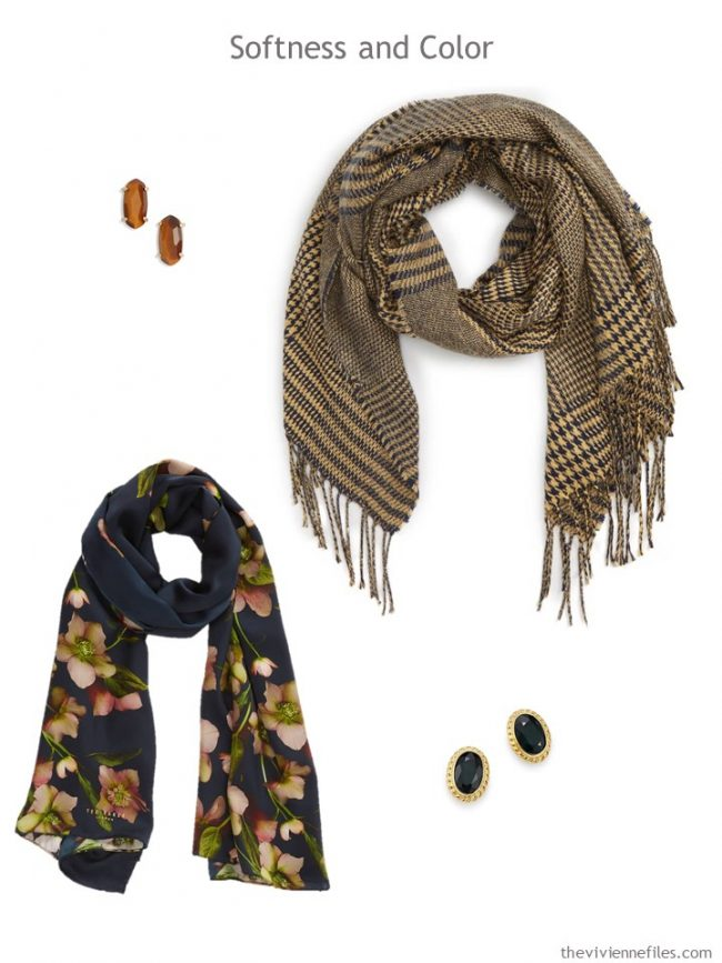 8. Softness and Color Accessories in navy and camel