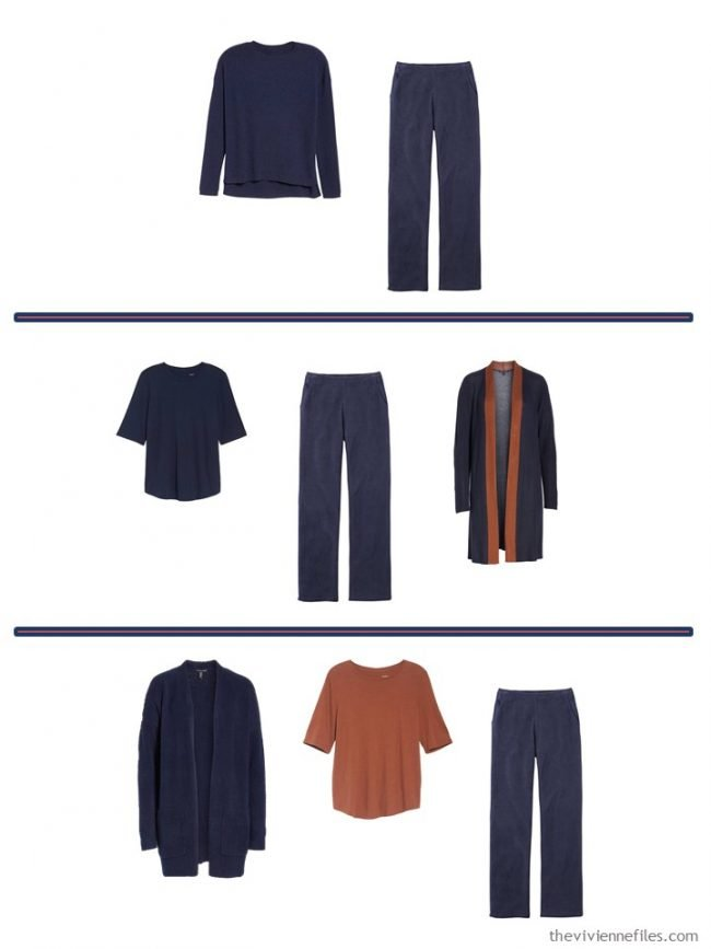9. 3 ways to wear navy corduroy pants from a 4 Cluster Wardrobe