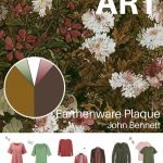 A CAPSULE WARDROBE COLOR PALETTE FOR ALL SEASONS INSPIRED BY AN EARTHENWARE PLAQUE BY JOHN BENNETT
