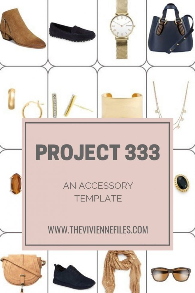 AN ACCESSORY TEMPLATE FOR A PROJECT 333 WARDROBE