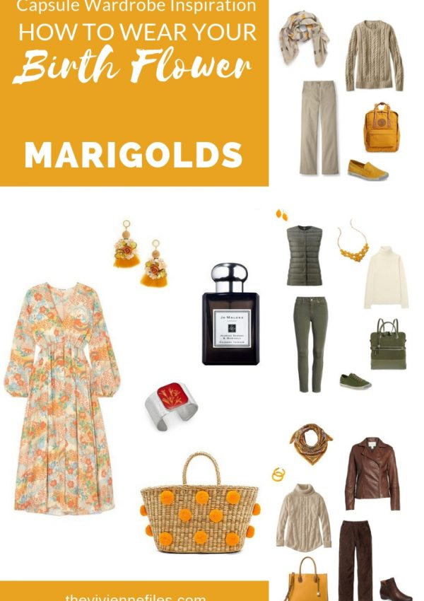A CAPSULE WARDROBE INSPIRED BY MARIGOLDS - THE BIRTH FLOWER FOR OCTOBER