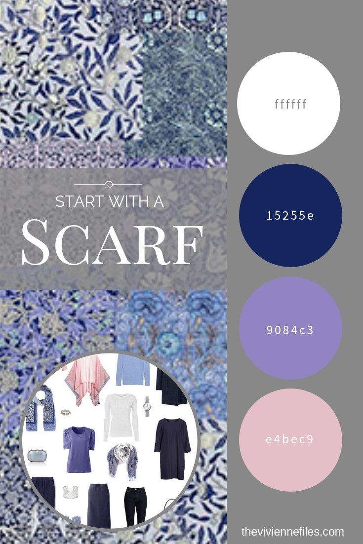 CREATE A TRAVEL CAPSULE WARDROBE INSPIRED BY A WILLIAM MORRIS PATCHWORK SCARF
