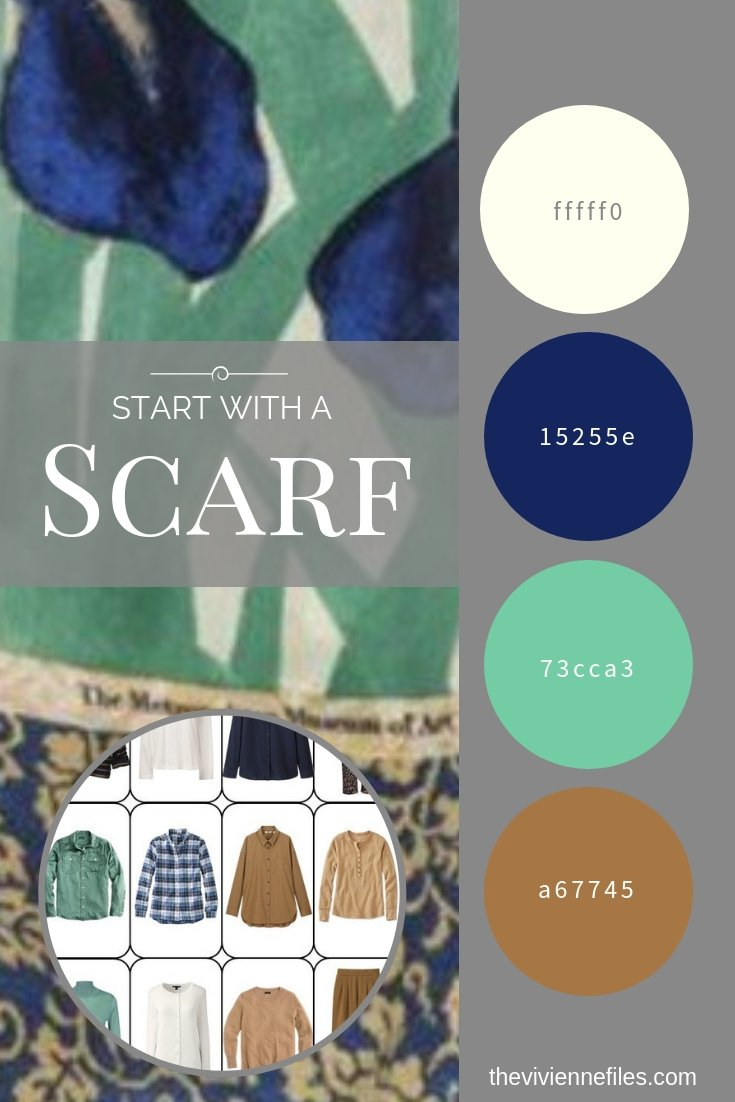 WHEN YOUR WARDROBE PLAN HITS A SNAG – START WITH A SCARF - JAPANESE IRISES