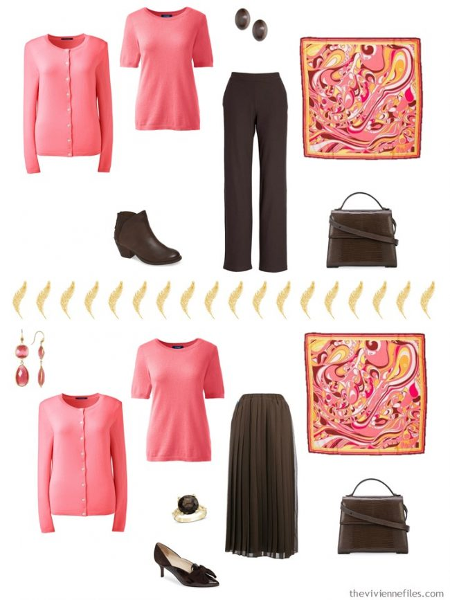 8. 2 ways to wear pink sweaters from a capsule wardrobe