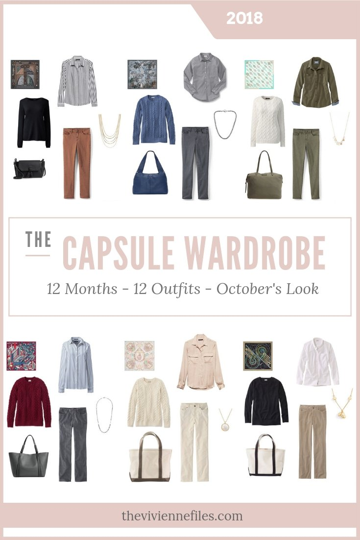 BUILD A CAPSULE WARDROBE IN 12 MONTHS, 12 OUTFITS - OCTOBER 2018