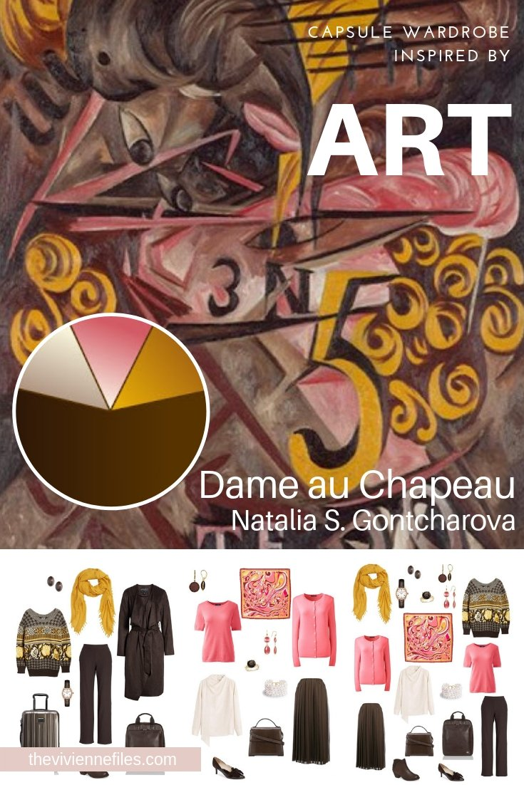 A TRAVEL CAPSULE WARDROBE INSPIRED BY DAME AU CHAPEAU BY GONTCHAROVA, REVISITED FOR AUTUMN 2018