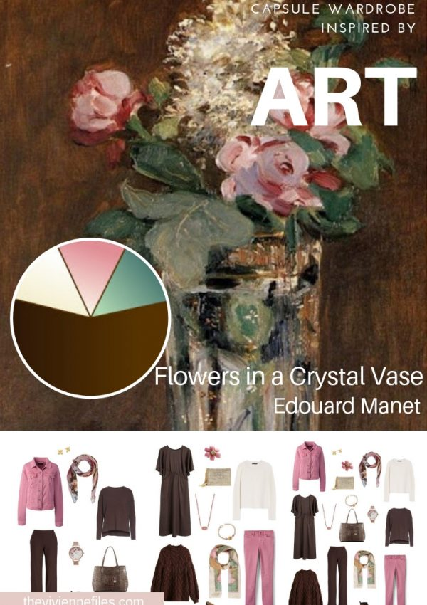 A TRAVEL CAPSULE WARDROBE INSPIRED BY FLOWERS IN A CRYSTAL VASE BY MANET, REVISITED FOR AUTUMN 2018