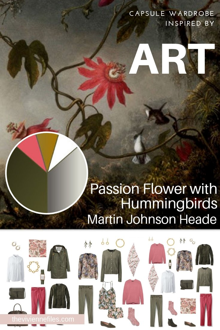 A TRAVEL CAPSULE WARDROBE INSPIRED BY PASSION FLOWER WITH HUMMINGBIRDS BY HEADE, REVISITED FOR AUTUMN 2018
