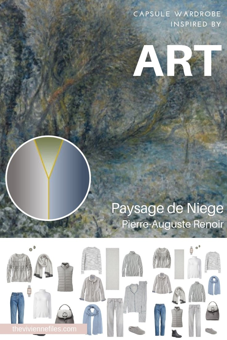 A TRAVEL CAPSULE WARDROBE INSPIRED BY PAYSAGE DE NEIGE BY RENOIR, REVISITED FOR AUTUMN 2018