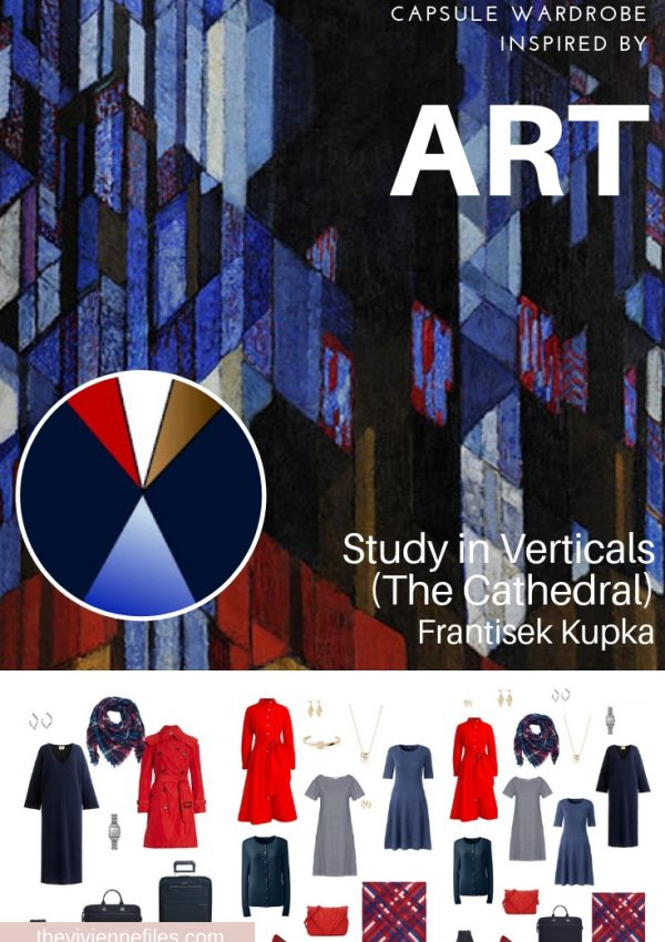 A TRAVEL CAPSULE WARDROBE INSPIRED BY STUDY IN VERTICALS BY FRANTISEK KUPKA, REVISITED FOR AUTUMN 2018