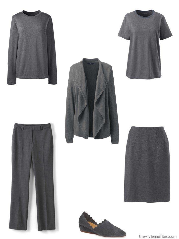 1. Charcoal Grey Capsule Wardrobe